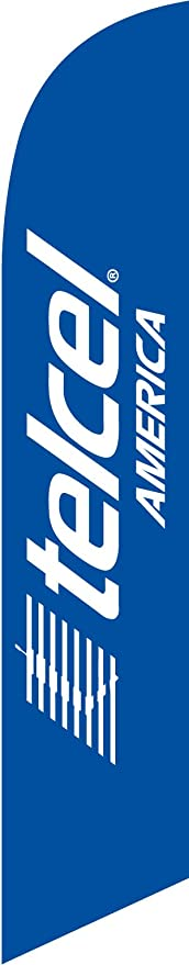 Telcel America 15ft Feather Banner Swooper Flag Kit with pole+spike