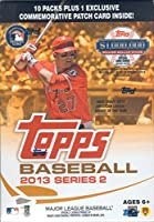 2013 Topps MLB Baseball Series #2 Unopened Blaster Box with 10 Packs of 8 Cards Plus One Commemorative Patch Card
