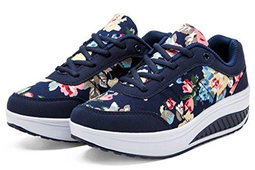 GFONE - Zapatos de tacón  mujer Azul