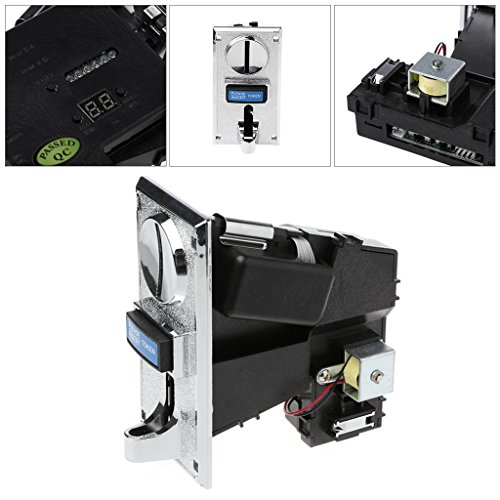 - Fucung Multi Coin Acceptor Electronic Roll Down Coin Acceptor Selector Mechanism Vending Machine Mech Arcade Game Ticket Redemption