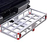 Bumper Hitch Cargo Carrier Basket 500lb Capacity for 2' Reveiver with Hitch Pin for Truck SUV Van Car