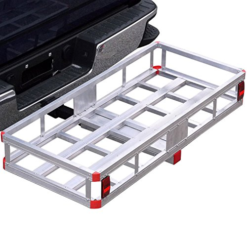 Bumper Hitch Cargo Carrier Basket 500lb Capacity for 2' Reveiver with Hitch Pin for Truck Compatible with SUV Van Car