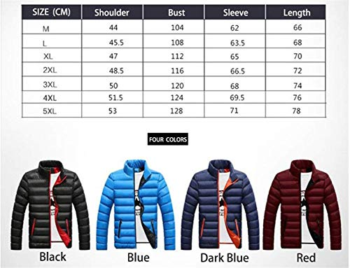 Collar Fit Jacket Fashion Clásico Long College Warm Ultralight Coat Slim Stand Men's Dunkelblau Quilted Down Sleeve Boy Autumn Coat Jacket Winter Jacket vqY6ww8U