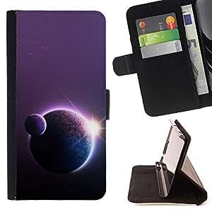 BullDog Case - FOR/Sony Xperia Z1 Compact D5503 / - / Space Planet Galaxy Stars 18 /- Monedero de cuero de la PU Llevar cubierta de la caja con el ID Credit Card Slots Flip funda de cuer