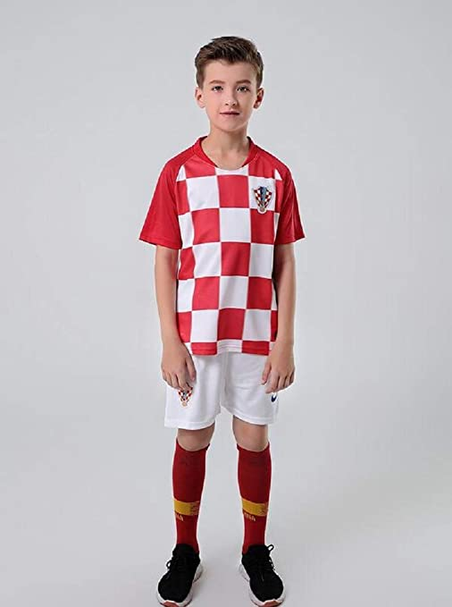 49fe2c65a37 Sykdybz 2018 Football Uniform Croatia Home Adult Children Teenager Jersey  Suit Training Team Clothing Fans Souvenir
