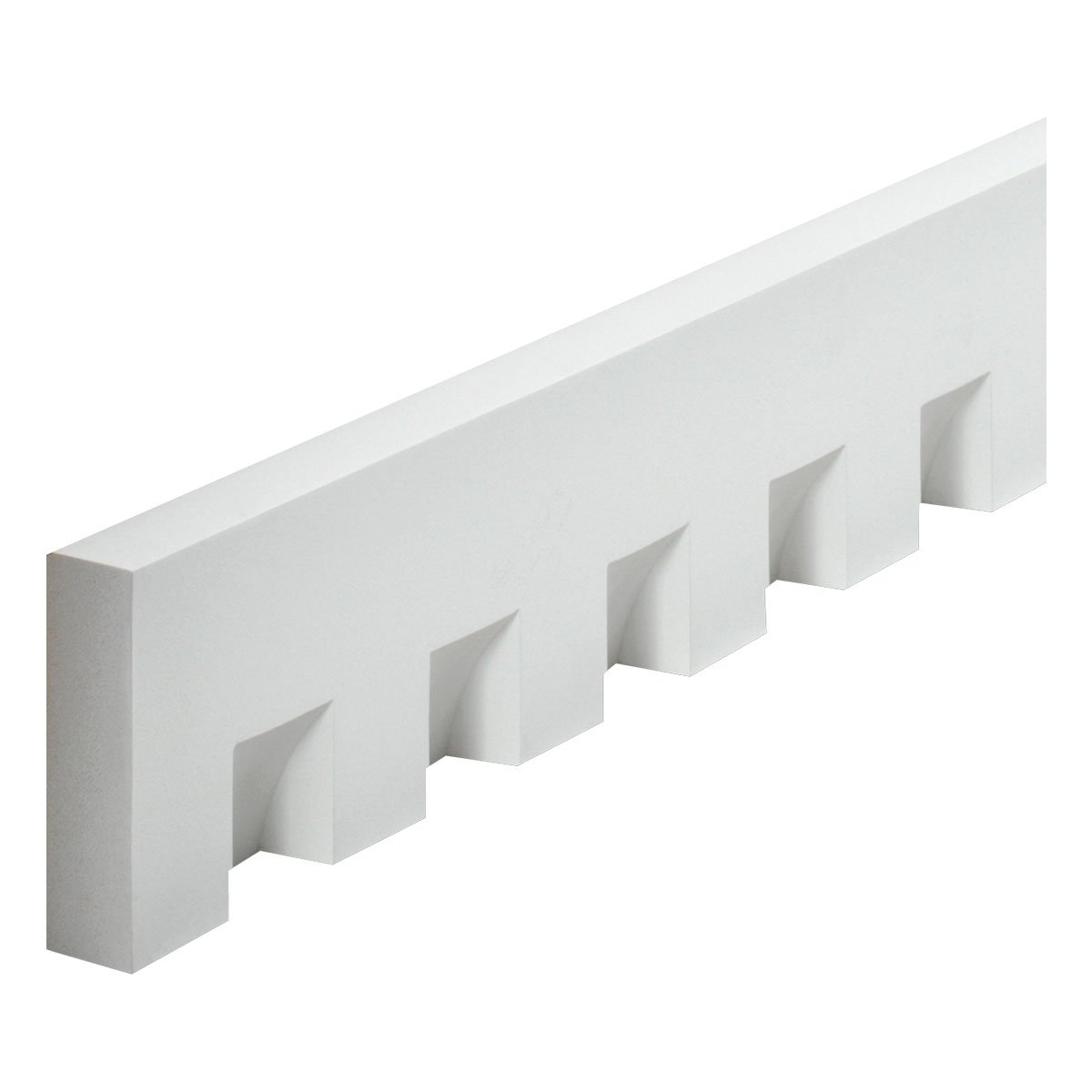 Fypon MLD320-8 5 3/4'' W x 2 1/4'' Tooth/Space x 1 5/8'' P, 8' Length, Classic Dentil Moulding