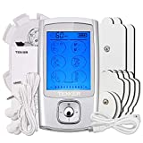 TENKER EMS TENS Unit with 8 Electrode Pads, Rechargeable Muscle Stimulator Pain Reliever
