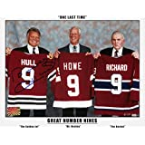 The Three Great Nines - Maurice Richard, Gordie Howe and Bobby Hull - Signed