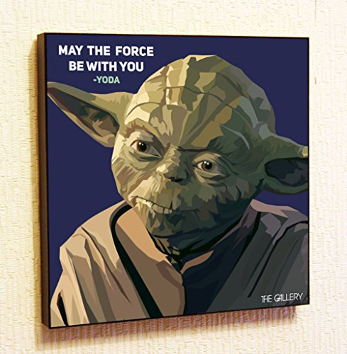 Yoda Star-Wars Super Hero Motivational Quotes Wall Decals Pop Art Gifts Portrait Framed Famous Paintings on Acrylic Canvas Poster Prints Artwork (10x10