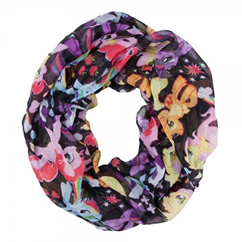 Price comparison product image My Little Pony Lots of Ponies Print Infinity Soft Polyester Scarf