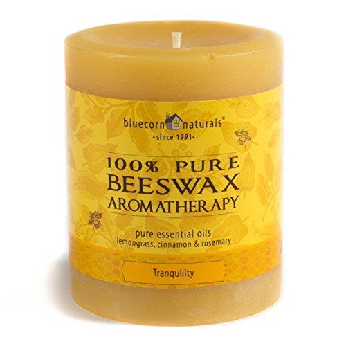 Bluecorn Beeswax 100% Pure Beeswax Aromatherapy Pillar Candl