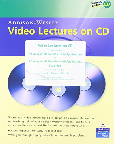 Video Lectures to Accompany a Survey of Mathematics with Applications, 8th & Expanded Edition