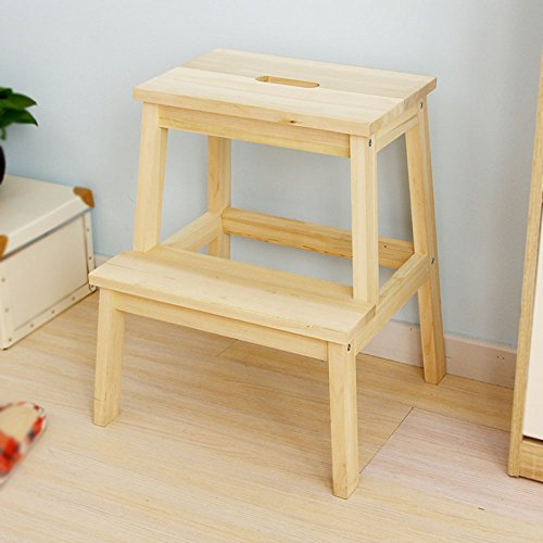 Solid wood color multi-purpose staircase / for shoe stool / small stool / staircase stool by Xin-stool