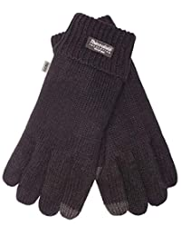 EEM touchscreen gloves for men LASSE-IP with Thinsulate thermal lining 100% wool, black M