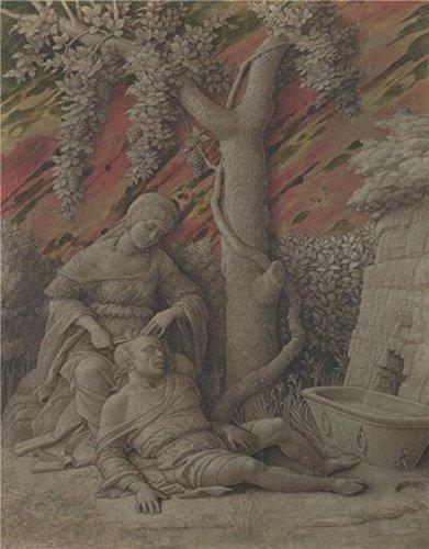 Perfect Effectのキャンバス、美しいアート装飾キャンバスプリントの油絵` Andrea Mantegna–Samson and Delilah、について1500`、30x 38インチ/ 76x 97cmはBF、最高のギフト用GF、ホームギャラリーアートとギフト