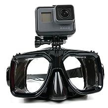 Pour caméra sportive masque de plongée avec support compatible pour Duomishu 4K WIFI, Vision 4K, EE 4GEE, Eken H9 et ELE CAM Explorer par DURAGADGET (vis non fournie) – Garantie de 2 ans