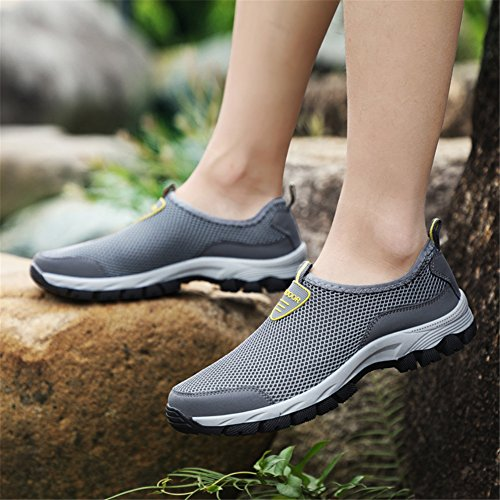 on Lightweight Sneaker Men Walking Running Gray Breathable Gomnear Slip Summer Shoes Mesh WYHg6qwd