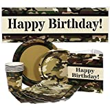 Camouflage Party Supply Package for 16 Guests