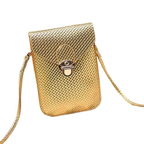 Mode Sac R bourse SODIAL cuir sac de de a en Plaid de Sac femmes bandouliere Femmes style plaid d'or messager de sac Preppy Mini portable bourse PU telephone qxtBIEt
