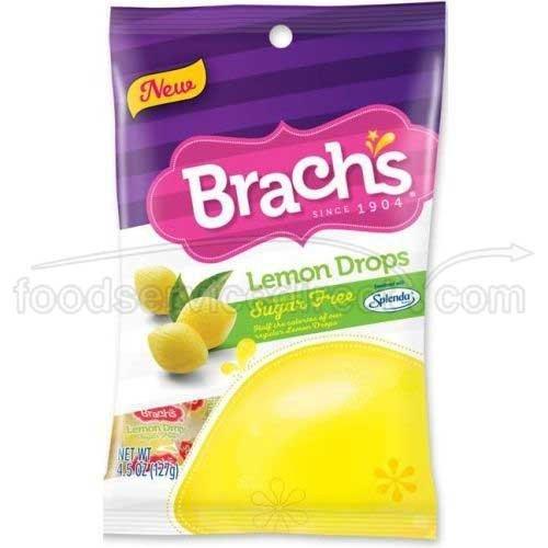 Brachs Sugar Free Lemon Drops Candy, 4.5 Ounce -- 12 per case. by Brach's