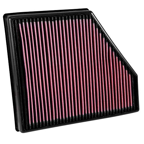 K&N engine air filter, washable and reusable:  2016-2019 Nissan Titan XD V8 -