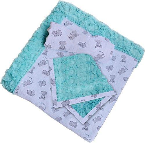 Minky Patty-Cakes Swaddle Gift Set Butter Mints Cuddle Kit Quilt Kit Shannon ()