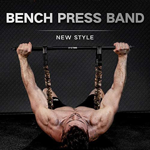 INNSTAR Adjustable Bench Press Band with Bar, Upgraded Push Up Resistance Bands, Portable Chest Builder Workout Equipment, Arm Expander for Home Workout,Gym,Fitness & Travel