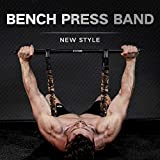 INNSTAR Adjustable Bench Press Device,Push up Resistance Bands for Home Gym Exercise,Fitness Workout,Travel Training (Camo sand-yellow-200LB)