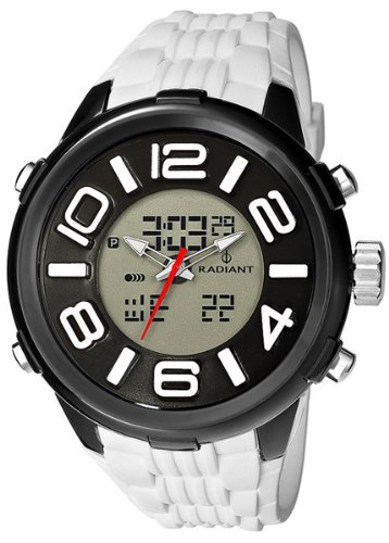 Radiant new roulette reloj para Hombre Digital de Cuarzo con brazalete de Silicona RA153602: Amazon.es: Relojes