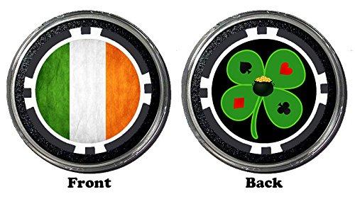 (Funny Poker Card Guard/Protector HOLDEM POKER PLAYING CARD COVER Gambling Coin (Irish Flag) )