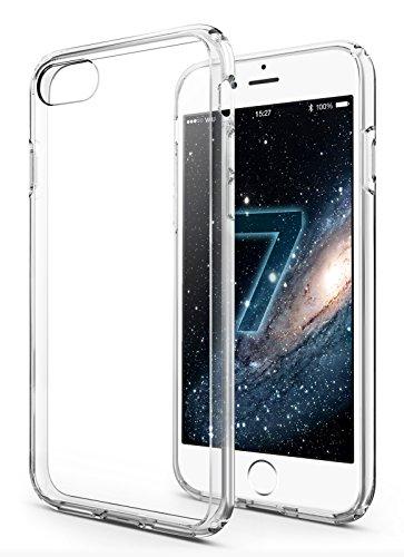 iPhone 7 Hülle - vau Hybrid Case Schutzhülle transparent - stabile Rückseite und flexibler Rahmen mit Airbagfunktion