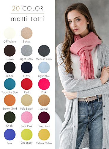 Pale Pink 100% Cashmere Shawl Stole Women Gift Scarves Wrap Blanket A1814B1-18 by matti totti (Image #1)