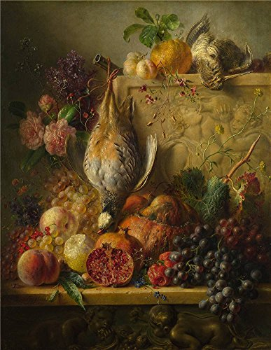 'Georgius Jacobus Johannes Van Os Fruit Flowers And Game ' Oil Painting, 20 X 26 Inch / 51 X 66 Cm ,printed On High Quality Polyster Canvas ,this Reproductions Art Decorative Canvas Prints Is Perfectly Suitalbe For Foyer Gallery Art And Home Artwork And Gifts (Star Girl Canvas Reproduction)