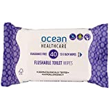 Ocean Healthcare Flushable toilet wipes, 40 Count
