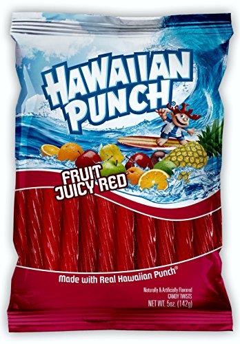 Hawaiian Punch Licorice Twists - Made with Real Hawaiian Punch! (4 Packs) by YANKEETRADERS