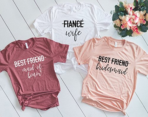 Amazoncom Bridesmaid Shirts Wedding Party Shirts Bride Shirts