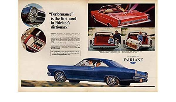 Performance is the 1st word in Ford Fairlane's dictionary ad