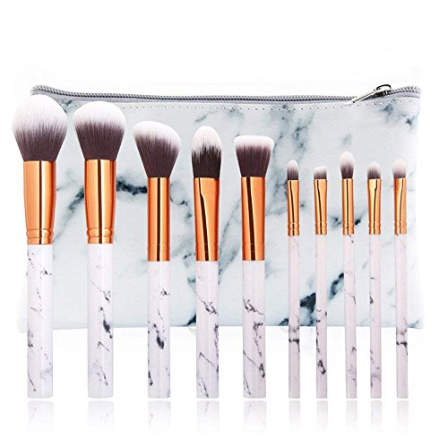 10Pcs Marble Make Up Brushes Sets Blusher Eyeshadow Brushes