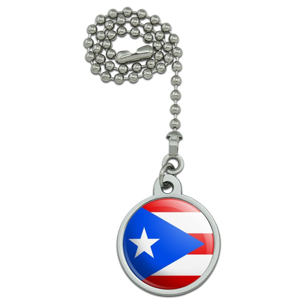 GRAPHICS /& MORE Puerto Rico Country Flag Ceiling Fan and Light Pull Chain