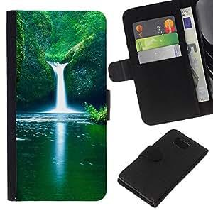 All Phone Most Case / Oferta Especial Cáscara Funda de cuero Monedero Cubierta de proteccion Caso / Wallet Case for Samsung ALPHA G850 // Waterfall Fresh Spring