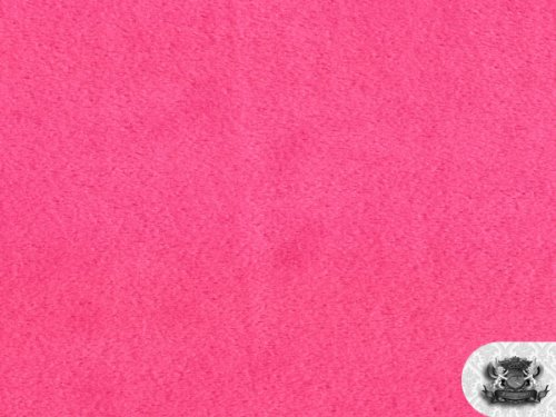 Minky Solid HOT PINK Fabric By the Yard by FABRIC EMPIRE   B0058EICWQ