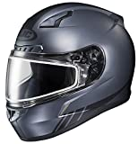 HJC CL-17SN Streamline Full Face Snow Helmet Frameless Dual Lens Shield (MC-5F Anthracite/Black, XX-Large)