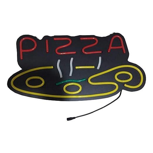 YJJYF Luces Neón Señales LED, Cartel de Pizza con Luces ...