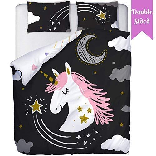 Double Sided Unicorn Bedding | Unicorn Bedding Twin for Girls | Unicorn Bedroom Decor | Girls Twin Bedding Sets | Unicorn Comforter Twin | Unicorn Sheets | Girls Bedding Sets Full (No Comforter)