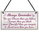 RED OCEAN Beautiful Friendship Sign Gift Best Friend Shabby Chic Plaque - You Are Stronger