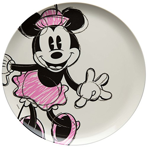 Zak Designs MMOP-0353 Disney Melamine Plates, 10 inches, Minnie Mouse