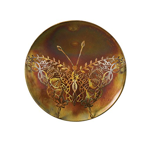Wall Lace Butterfly (Ancient Graffiti Metal Lace Butterfly Wall Decor - Indoor/Outdoor Art - 12