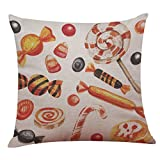 Pillow Case,SUPPION Happy Halloween Linen Throw Pillow Case Cushion Cover Home Sofa Decor New (16 kinds of patterns) (J)