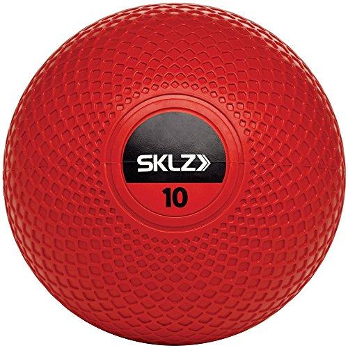 SKLZ Med Ball, 10 lb - Non-Slip Weight Training Medicine Ball