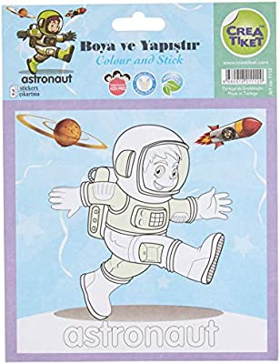 Creatiket 1112 Boyama Etiketi Uzaya Yolculuk Astronot Amazon Com Tr